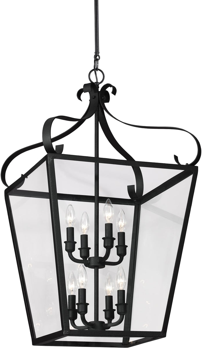 "18""W Lockheart 8-Light Energy Star Hall Foyer Pendant Blacksmith"