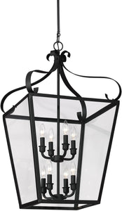 Lockheart 8-Light Energy Star Hall Foyer Pendant Blacksmith