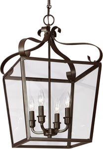 Sea Gull Lighting Lockheart 4-Light Hall Foyer Pendant Heirloom Bronze