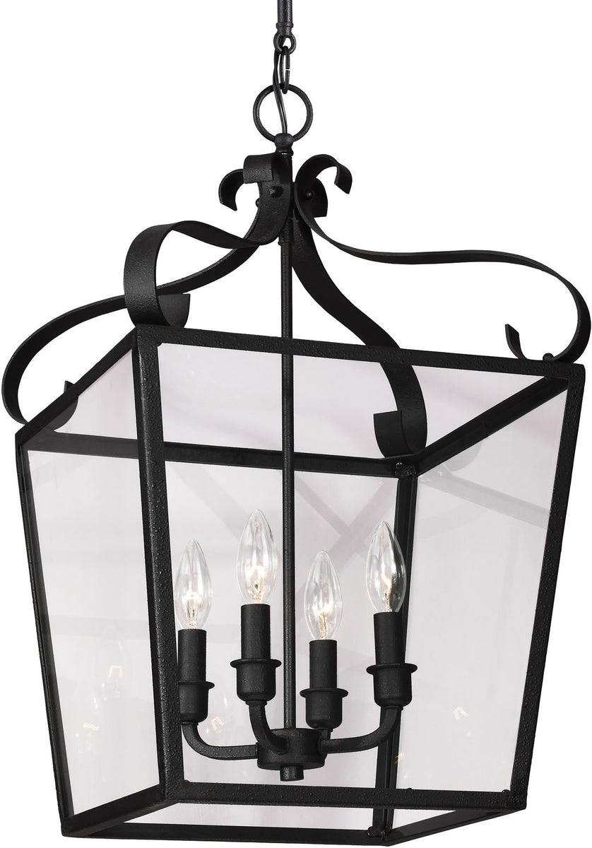 "14""W Lockheart 4-Light Hall Foyer Pendant Blacksmith"