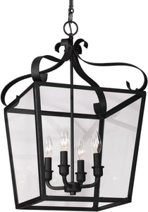 Sea Gull Lighting Lockheart 4-Light Hall Foyer Pendant Blacksmith
