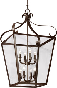 Sea Gull Lighting Lockheart 8-Light Hall Foyer Pendant Heirloom Bronze
