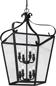 Sea Gull Lighting Lockheart 8-Light Hall Foyer Pendant Blacksmith