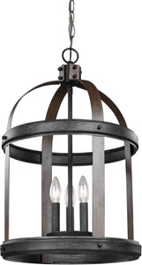 Sea Gull Lighting Lonoke 3-Light Energy Star Hall Foyer Pendant Stardust/Cerused Oak