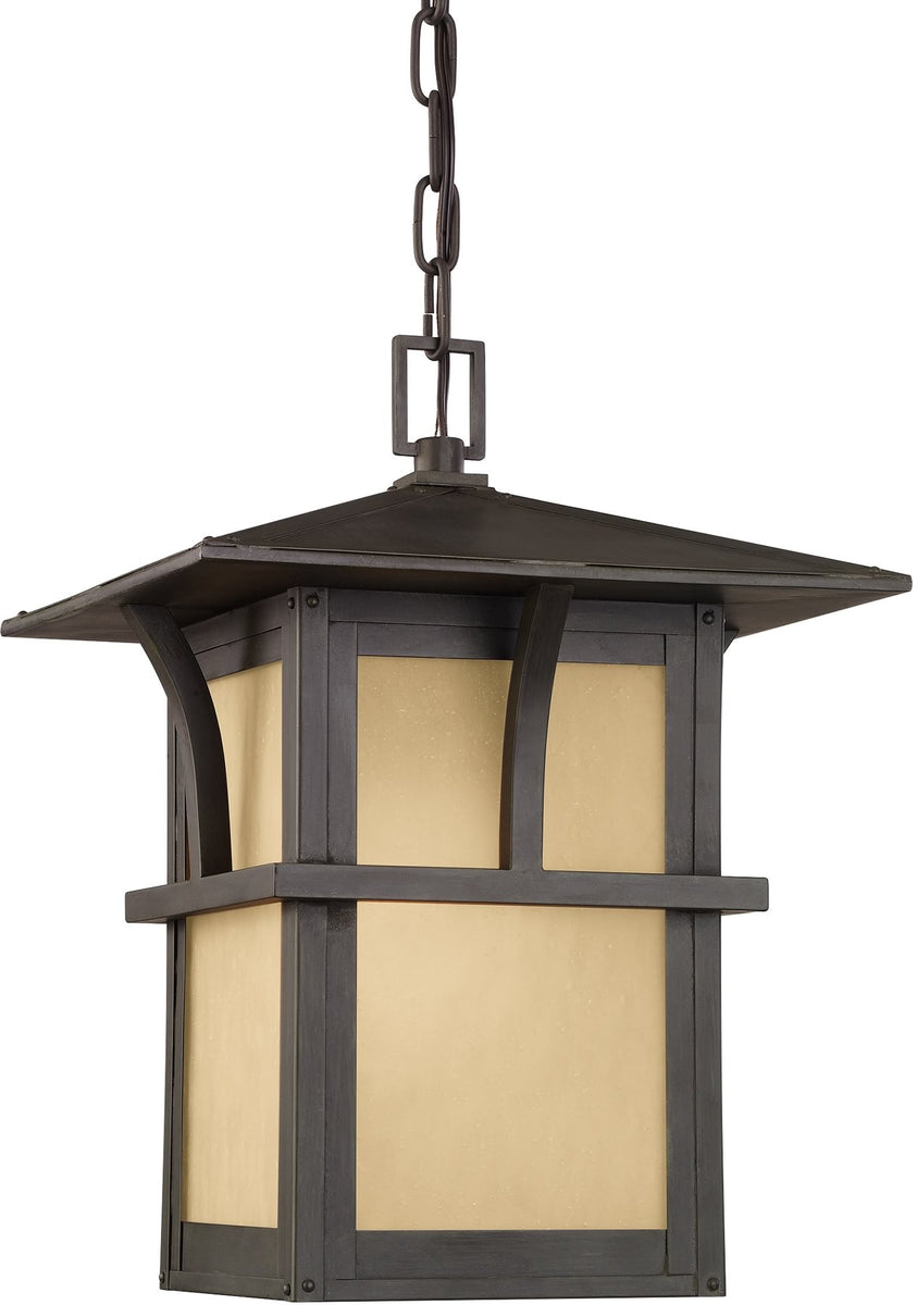 "12""W Medford Lakes 1-Light Outdoor Pendant Light Statuary Bronze"