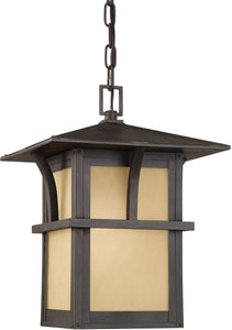 Sea Gull Lighting Medford Lakes 1-Light Outdoor Pendant Light Statuary Bronze