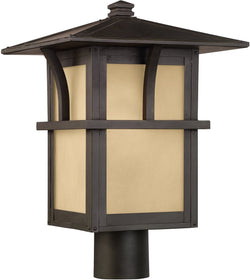 Sea Gull Lighting Medford Lakes 1-Light Outdoor Post Lantern Statuary Bronze