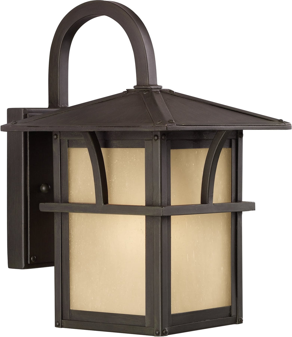 "11""H Medford Lakes 1-Light Outdoor Wall Lantern Statuary Bronze"