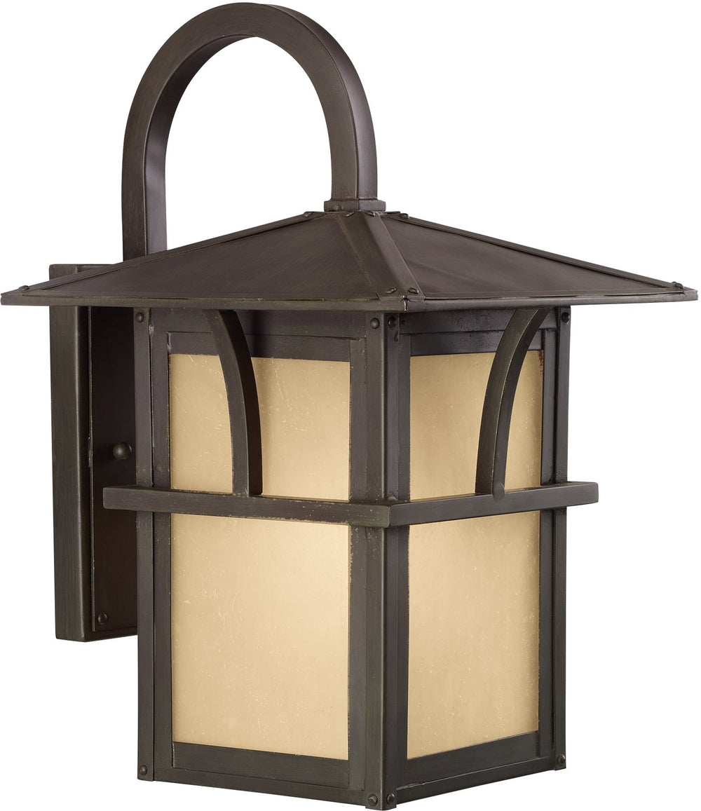 "14""H Medford Lakes 1-Light Outdoor Wall Lantern Statuary Bronze"
