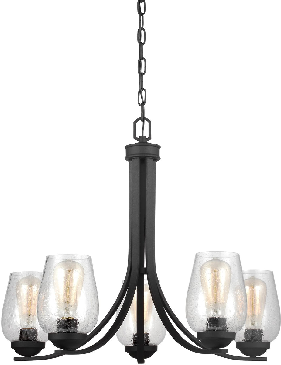 Morill 5-Light Single-Tier Chandelier Blacksmith