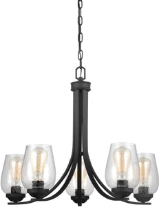 Sea Gull Lighting Morill 5-Light Single-Tier Chandelier Blacksmith