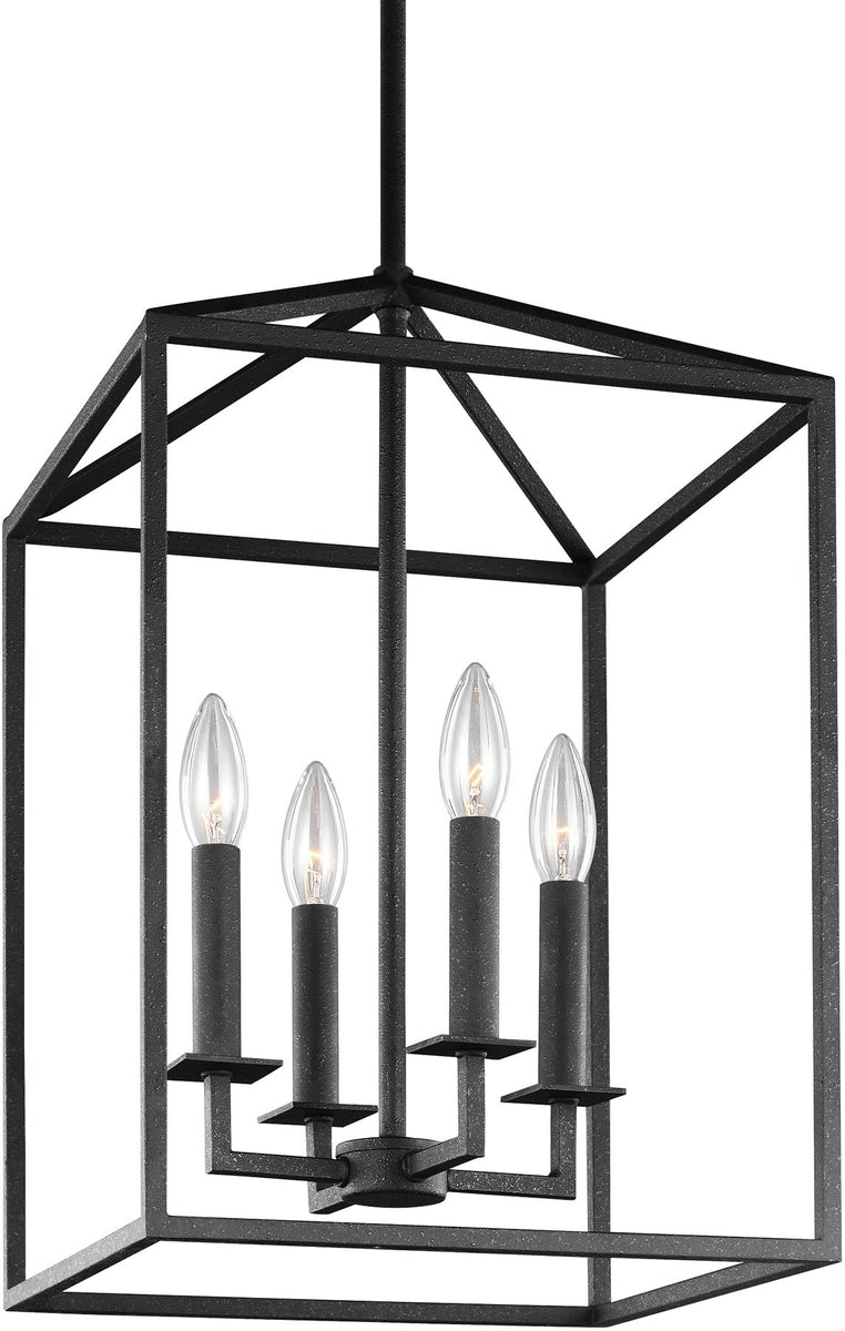 "16""W Perryton 4-Light Energy Star Hall Foyer Pendant Blacksmith"