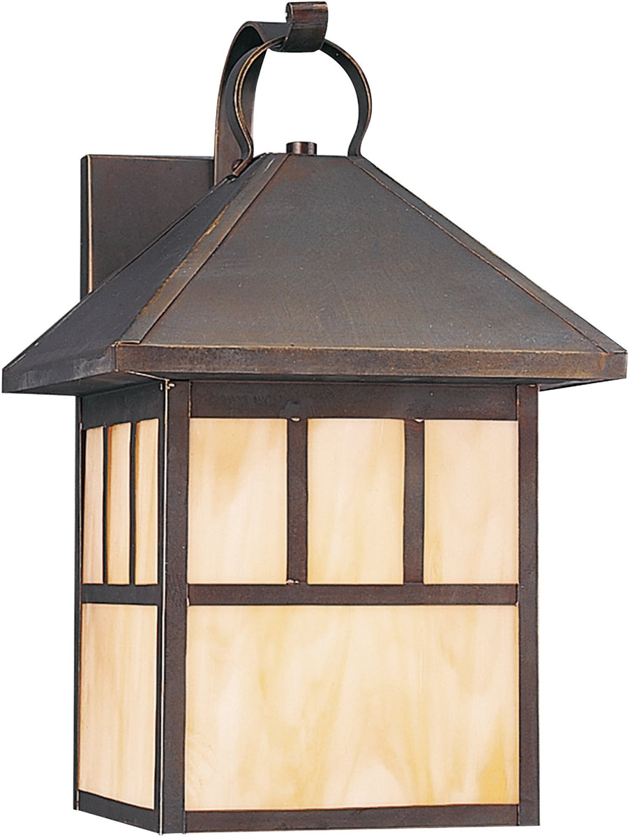"17""H Prairie Statement 1-Light Outdoor Wall Lantern Antique Bronze"