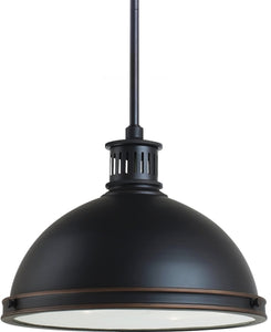 Pratt Street Metal 2-Light Pendant Autumn Bronze