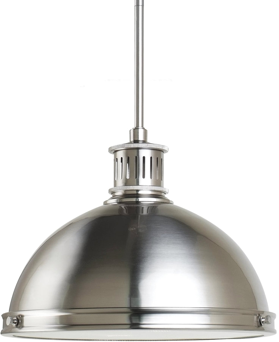 "13""W Pratt Street Metal 2-Light Pendant Brushed Nickel"