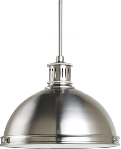 Sea Gull Lighting Pratt Street Metal 2-Light Pendant Brushed Nickel