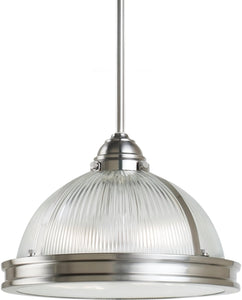 Sea Gull Lighting Pratt Street Prismatic 2-Light Pendant Brushed Nickel