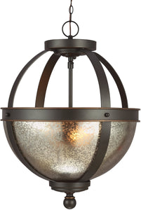 Sfera 2-Light Indoor Semi-Flush Convertible Autumn Bronze