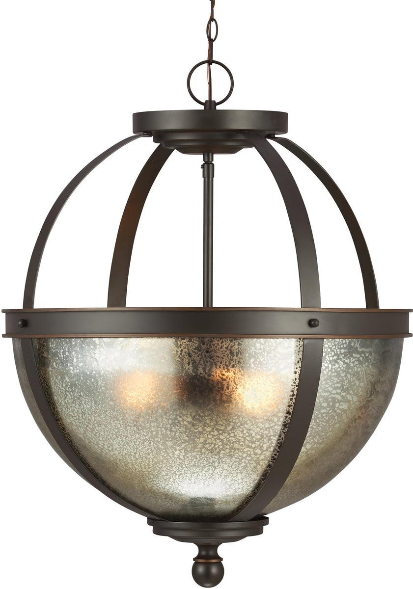 "19""W Sfera 3-Light Pendant Autumn Bronze"