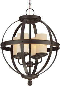 Sea Gull Lighting Sfera 4-Light Single-Tier Chandelier Autumn Bronze