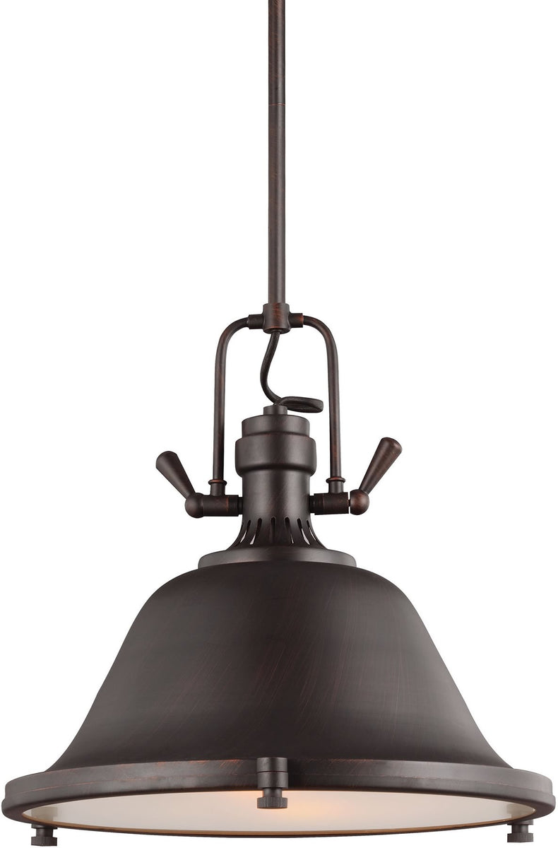 "17""W Stone Street 2-Light Pendant Burnt Sienna"