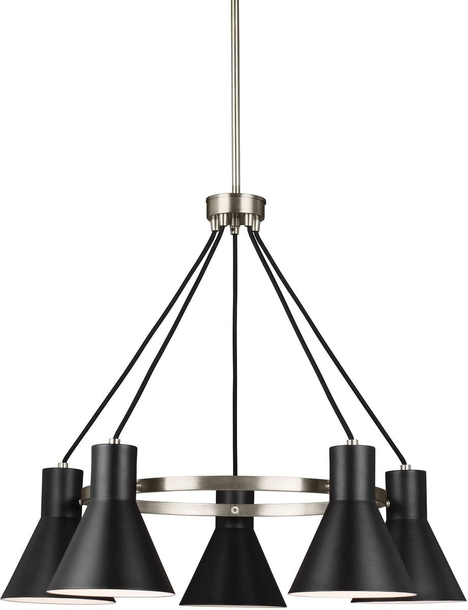 Towner 5-Light Single-Tier Chandelier Brushed Nickel