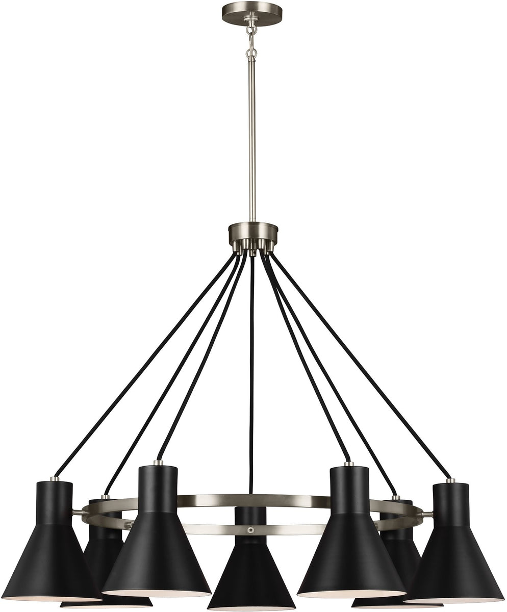 Towner 7-Light Single-Tier Chandelier Brushed Nickel