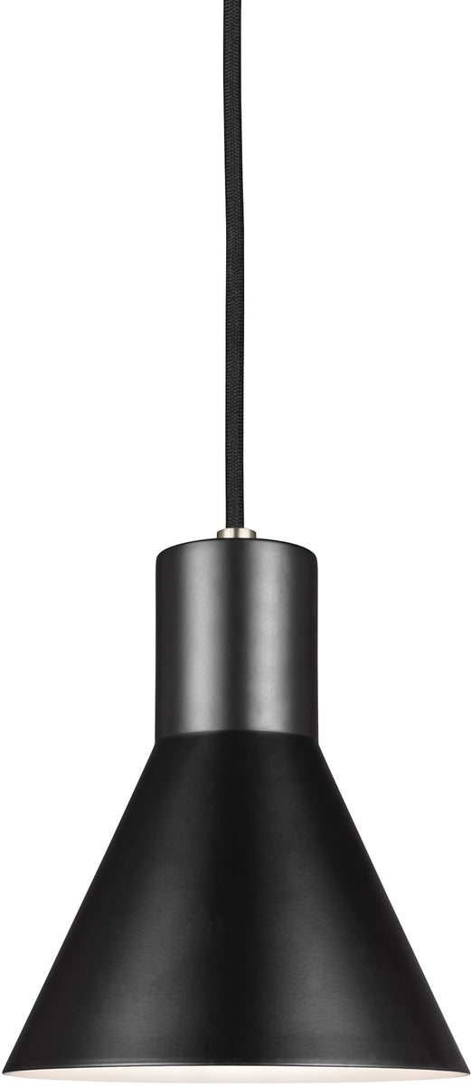 "7""W Towner 1-Light Single-Tier Pendant Brushed Nickel"