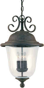 Sea Gull Lighting Trafalgar 3-Light Energy Star Outdoor Pendant Light Oxidized Bronze