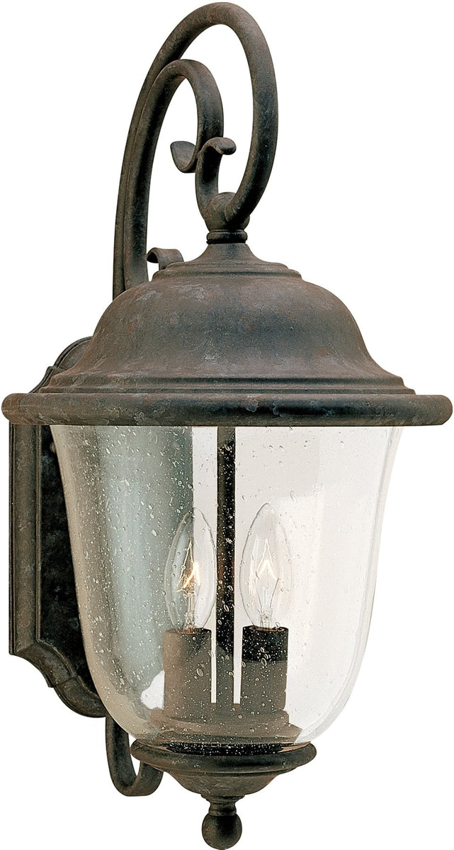 "18""H Trafalgar 2-Light Energy Star Outdoor Wall Lantern Oxidized Bronze"