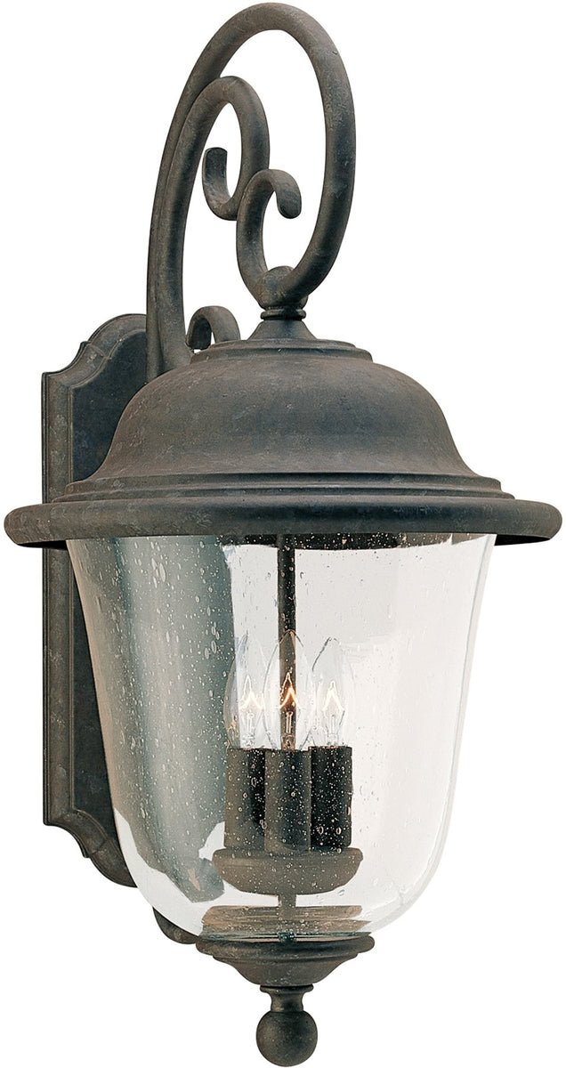 "24""H Trafalgar 3-Light Energy Star Outdoor Wall Lantern Oxidized Bronze"