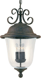 Sea Gull Lighting Trafalgar 3-Light Outdoor Pendant Light Oxidized Bronze