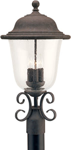 Trafalgar 3-Light Outdoor Post Lantern Oxidized Bronze