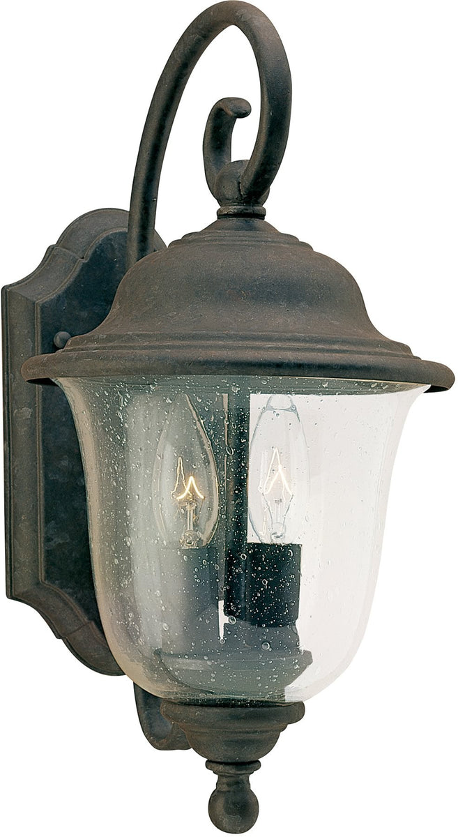"15""H Trafalgar 2-Light Outdoor Wall Lantern Oxidized Bronze"