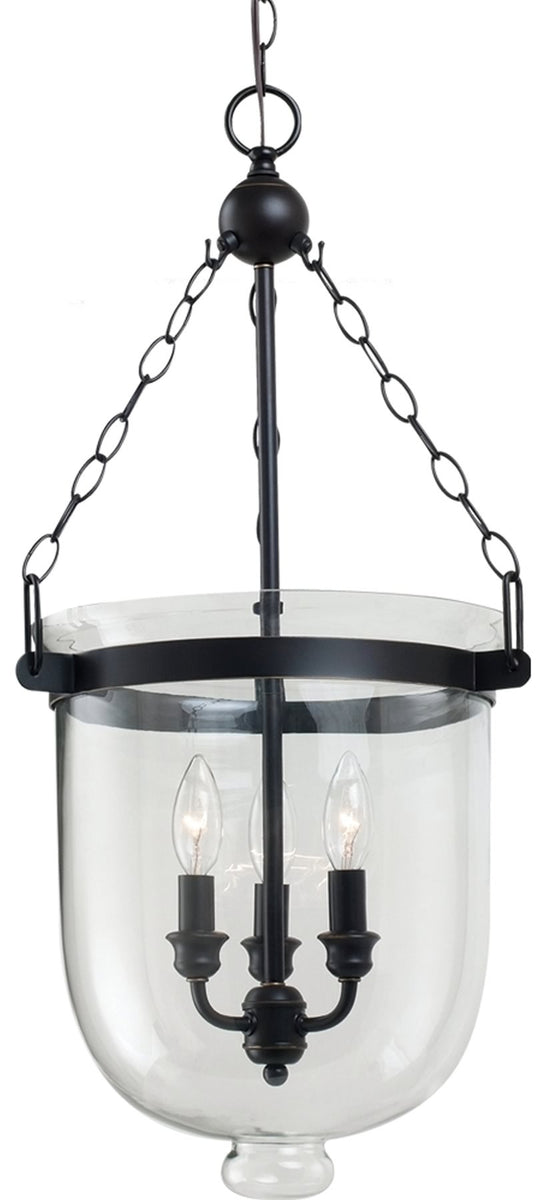 "14""W Westminster 3-Light Pendant Autumn Bronze"