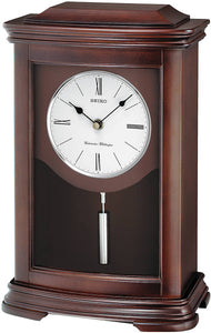 Seiko Clocks Mantel Clock Dark Brown Alder QXQ013BLH