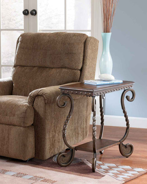 Signature Design by Ashley Rafferty Chairside End Table Dark Brown T3827