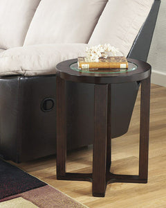 Signature Design by Ashley Marion Round End Table Dark Brown