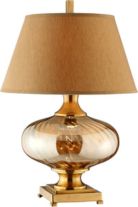 Sophie 1-Light Table Lamp Lawrence Amber