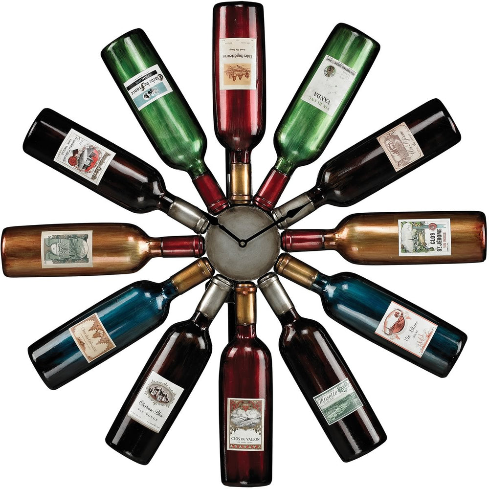 "30""h Wine Bottle Clock Accentuate"