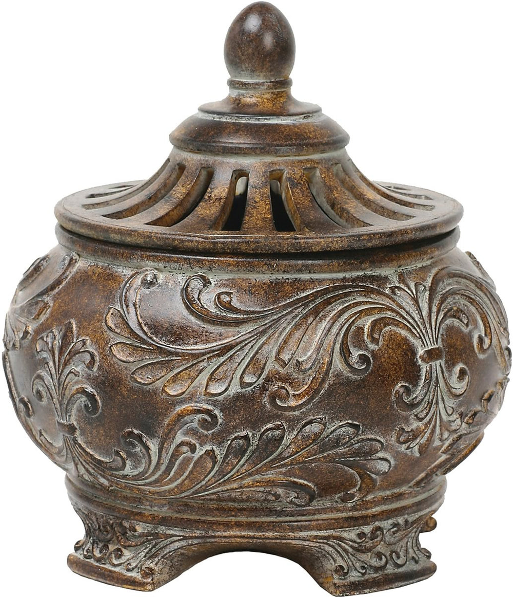 Fortress Lidded Bowl Brown