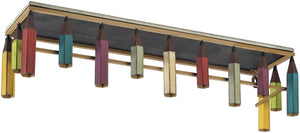 "6""H Pencil Shelf Bassit Multi Colored"