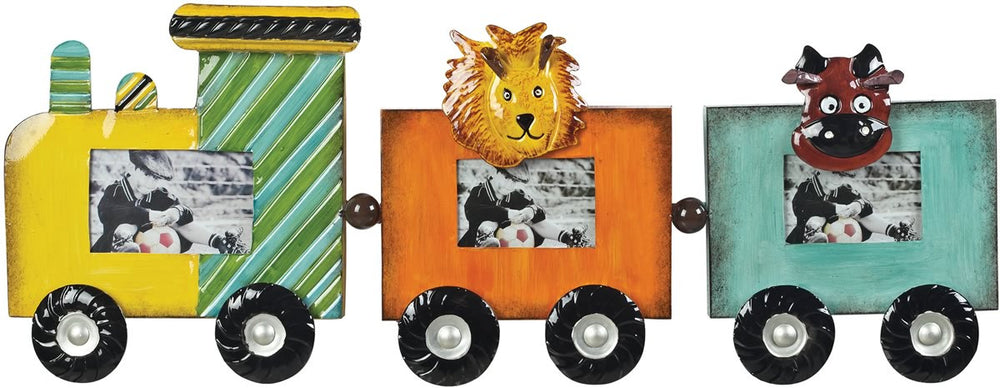 "2""H Zoo Animals Picture Frame Impact Orange/ Yellow/Teal"