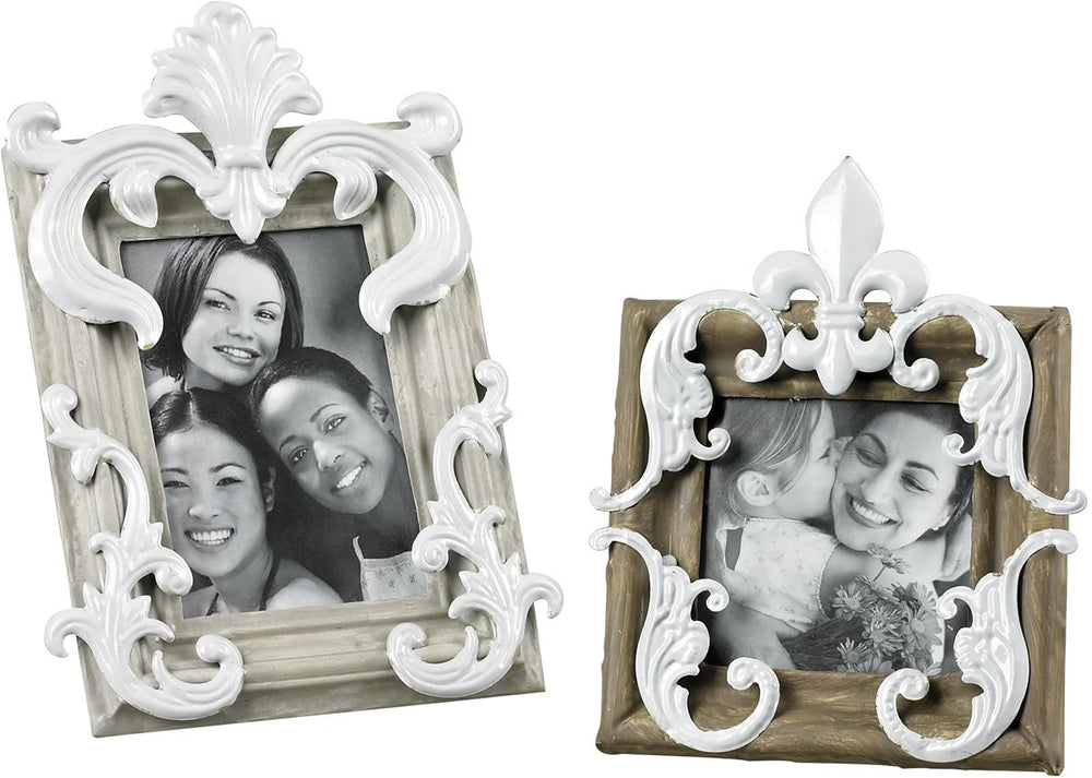 0-014945>Picture Frame Grey/Caramel/White