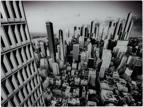 Sterling New York City Image Printed on Glass Black/White 5110121