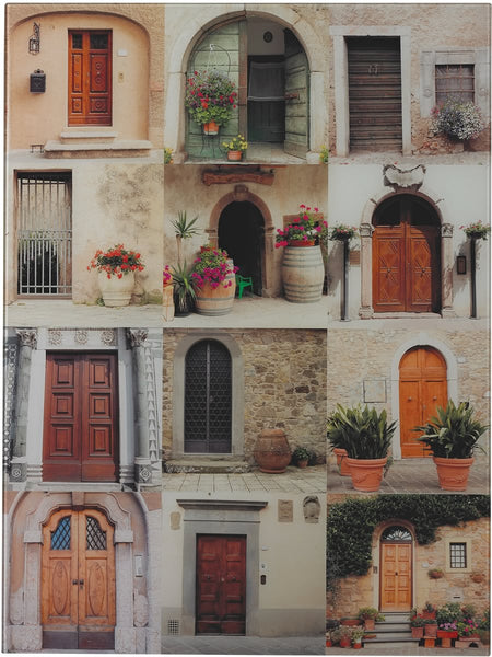 Sterling Door Collage Photography Printed on Glass Print 5110125