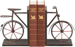 Sterling Pair Bicycle Bookends Rusty Brown 513857