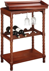 "21x31"" Piccadilly Wine Cart Natural Cherry"
