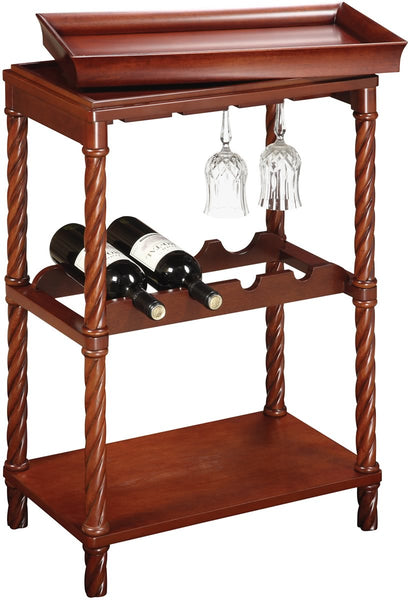 Sterling Piccadilly Wine Cart Natural Cherry 6043453
