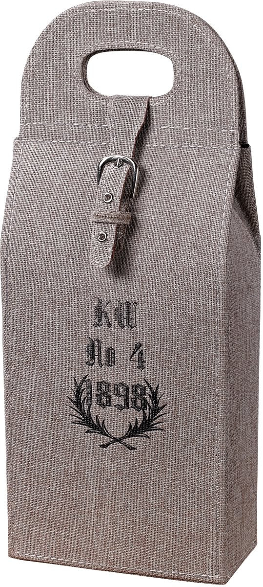 Linen Wrapped Wine Case Natural Linen